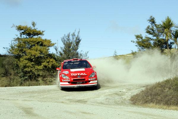 2004 FIA World Rally Champs. Round four, Propecia Rally New Zealand.15th-18th April 2004.Harri Rovanpera, Peugeot, action.World Copyright: McKlein/LAT