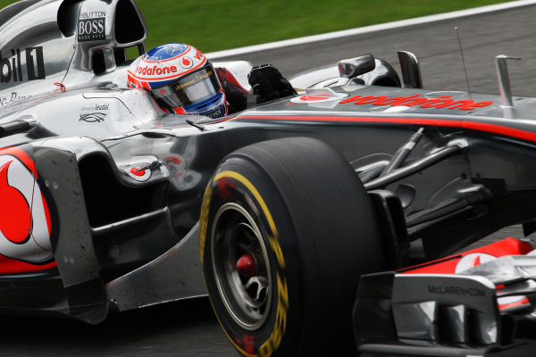 Jenson Button (GBR) McLaren MP4/26. Formula One World Championship, Rd 12, Belgian Grand Prix, Race, Spa-Francorchamps, Belgium, Sunday 28 August 2011.  BEST IMAGE