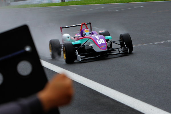 Fuji, Japan. 12th June 2011Rd 3 Winner Yuhi Sekiguchi ( #50 B-MAX ENGINEERING ), action.World Copyright: Yasushi Ishihara/LAT Photographicref: Digital Image 2011JF3_R3_003