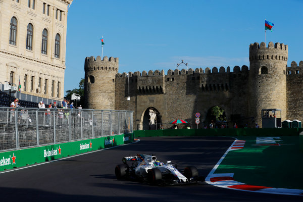 Baku City Circuit, Baku, Azerbaijan. Friday 23 June 2017. Felipe Massa, Williams FW40 Mercedes.  World Copyright: Steven Tee/LAT Images ref: Digital Image _R3I2513