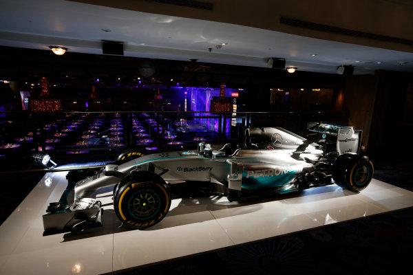 2014 Autosport Awards. Grosvenor House Hotel, Park Lane, London. Sunday 7 December 2014. Mercedes Benz F1 W05 Hybrid. World Copyright: Sam Bloxham/LAT Photographic. ref: Digital Image _14P3421