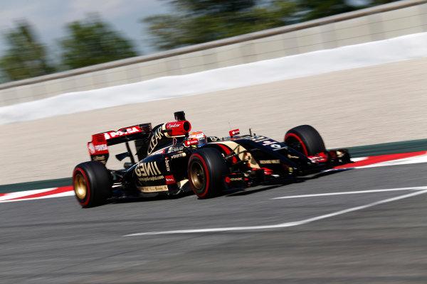 Circuit de Catalunya, Barcelona, Spain. Wednesday 14 May 2014. Pastor Maldonado, Lotus E22 Renault. World Copyright: Sam Bloxham/LAT Photographic. ref: Digital Image _SBL0521