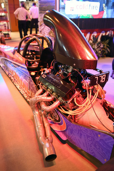 The new 2017 Lucas Oil Super Pro ET Dragster of Brad Jackson Racing at Autosport International Show, NEC, Birmingham, England, 12-15 January 2017.
