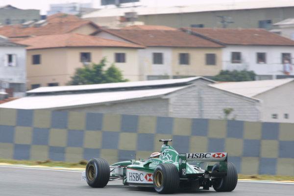 2001 Brazilian Grand Prix - Friday PracticeSao Paolo, Brazil. 30th March 2001Eddie Irvine, Jaguar Racing - action.World Copyright - LAT Photographicref: 8 9 MB Digital