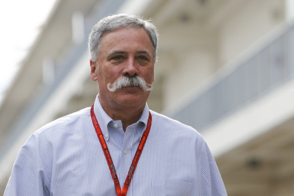Chase Carey (USA) Vice Chairman of 21st Century Fox Media and Chairman of the Formula One Group at Formula One World Championship, Rd18, United States Grand Prix, Race, Circuit of the Americas, Austin, Texas, USA, Sunday 23 October 2016.