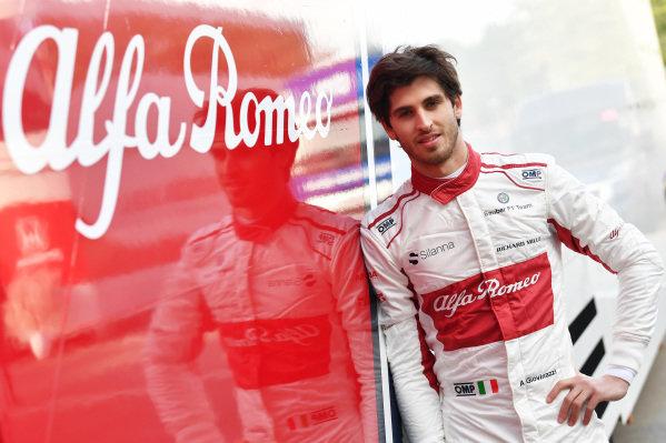 Antonio Giovinazzi (ITA) Alfa Romeo Sauber F1 Team at Formula One Testing, Day One, Barcelona, Spain, Tuesday 15 May 2018. BEST IMAGE