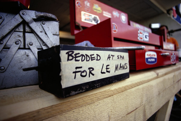 A message for the mechanics that the brake pads had been bedded in at the Spa round.