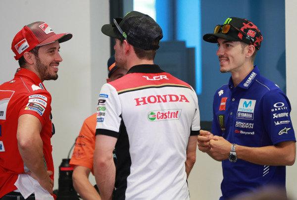 Andrea Dovizioso, Ducati Team, Cal Crutchlow, Team LCR Honda, Maverick Vinales, Yamaha Factory Racing.