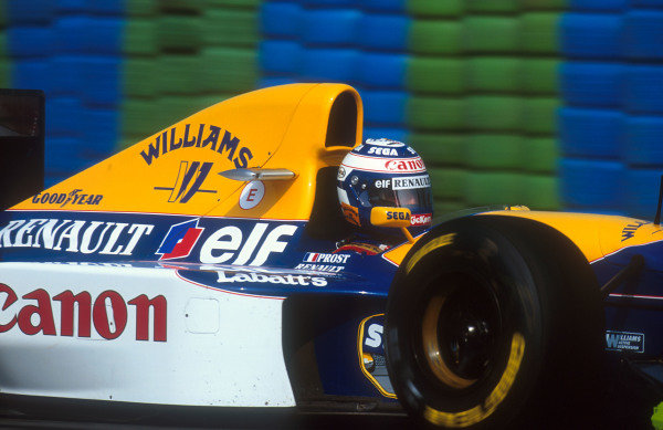 1993 French Grand Prix.Magny-Cours, France.2-4 July 1993.Alain Prost (Williams FW15C Renault) 1st position.Ref-93 FRA 08.World Copyright - LAT Photographic