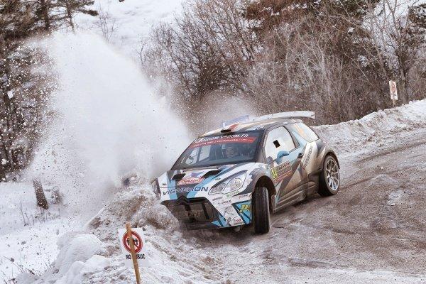 Quentin Giordano (FRA) / Valentin Sarreaud (FRA), Citroen DS3 WRC2 at FIA World Rally Championship, Rd1, Rally Monte Carlo, Day Two, Monte Carlo, Monaco, 23 January 2016.