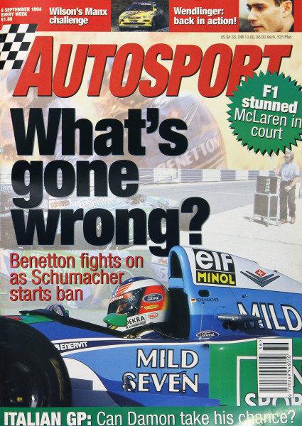Cover of Autosport magazine, 8th September 1994
