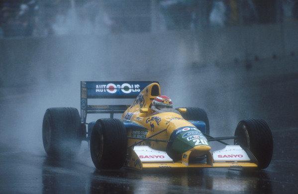 1991 Australian Grand Prix.Adelaide, Australia.1-3 November 1991.Nelson Piquet (Benetton B191 Ford) 4th position in his last Grand Prix.Ref-91 AUS 08.World Copyright - LAT Photographic