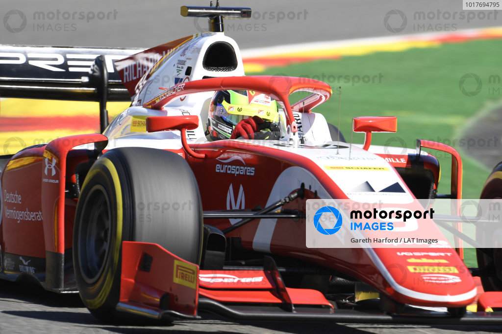 SPA-FRANCORCHAMPS, BELGIUM - AUGUST 30: Mick Schumacher (DEU, PREMA RACING) during the Spa-Francorchamps at Spa-Francorchamps on August 30, 2019 in Spa-Francorchamps, Belgium. (Photo by Gareth Harford / LAT Images / FIA F2 Championship)