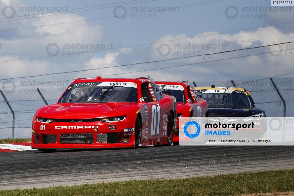 #01: Stephen Leicht, JD Motorsports, Chevrolet Camaro The McLain Group and #0: Garrett Smithley, JD Motorsports, Chevrolet Camaro teamjdmotorsports.com