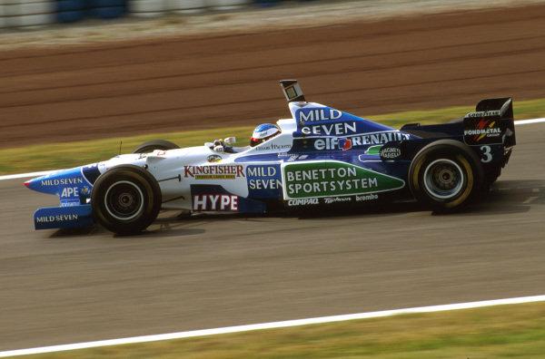 Catalunya, Barcelona, Spain.31/5-2/6 1996.Jean Alesi (Benetton B196 Renault) 2nd position.Ref-96 ESP 14.World Copyright - LAT Photographic