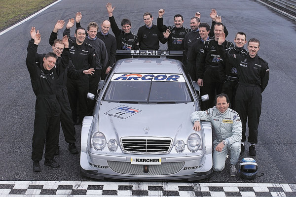 German Touring Car Testing, Italy. Febrauary 17th 2000.Mercedes-Benz Motorsport tested the new CLK.Drivers Bernd Schneider and Klaus Ludwigfocused on tyre tests, set-up, and the development of the DTM racecar production for the season.