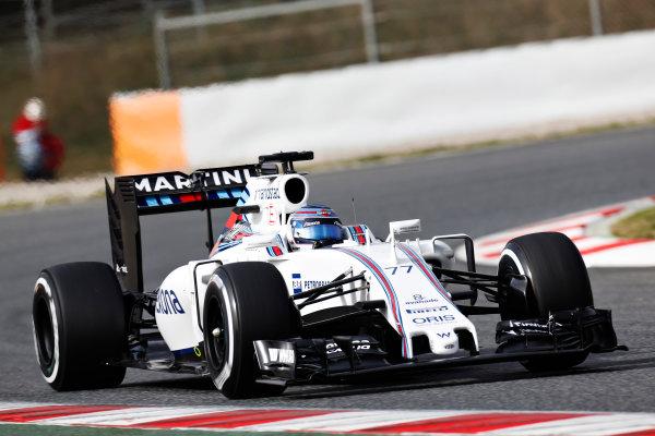 Circuit de Catalunya, Barcelona, Spain Monday 22 February 2016. Valtteri Bottas, Williams FW38 Mercedes. World Copyright: Alastair Staley/LAT Photographic ref: Digital Image _R6T7096