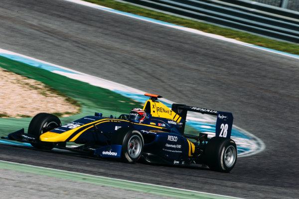 2016 GP3 Series Testing. Estoril, Portugal. Thursday 24 March 2016. Kevin Joerg (SUI) DAMS  World Copyright: Malcolm Griffiths/LAT Photographic. ref: Digital Image F80P4993