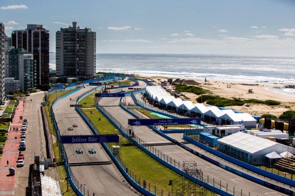 2015/2016 FIA Formula E Championship. Testing, Punta del Este, Uruguay. Sunday 20 December 2015. Nelson Piquet (BRA), NEXTEV TCR FormulaE 001, Oliver Turvey (GBR) NEXTEV TCR FormulaE 001, Lucas Di Grassi (BRA), ABT Audi Sport FE01, Daniel Abt (GER), ABT Audi Sport FE01. Photo: Zak Mauger/LAT/Formula E ref: Digital Image _L0U9353