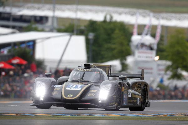 Circuit de La Sarthe, Le Mans, France. 21st June 2013. Kevin Weeda/James Rossiter/Christophe Bouchut, Lotus LMP2, No.31 Lotus-Praga T128. World Copyright: Alastair Staley/  ref: Digital Image _R6T4359