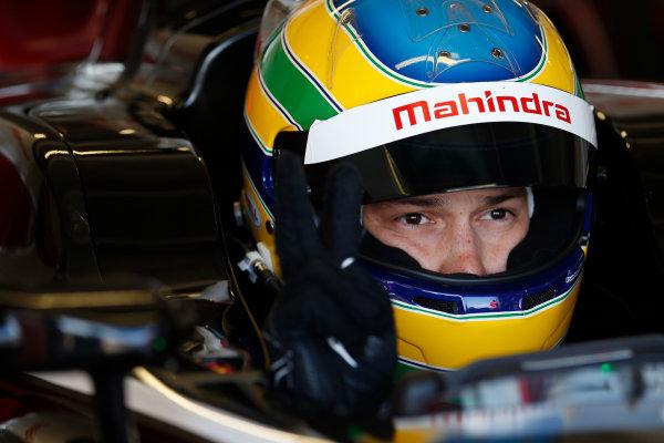 FIA Formula E Test Day, Donington Park, UK.  9th - 10th July 2014.  Bruno Senna, Mahindra Racing. Photo: Glenn Dunbar/FIA Formula E ref: Digital Image _89P3356