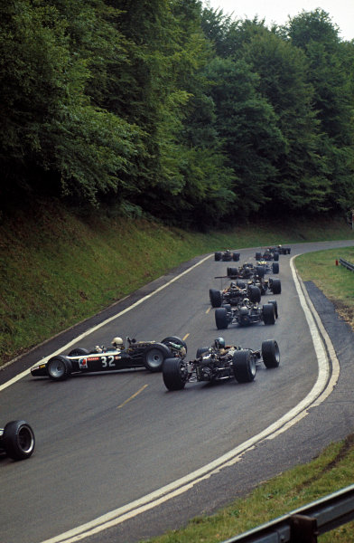 Rouen-Les-Essarts, France. 5-7 July 1968. Johnny Servoz-Gavin (Cooper T86B BRM) spins early in the race. Ref-68FRA04. World Copyright - LAT Photographic