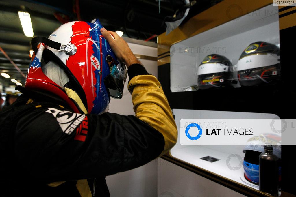 Albert Park, Melbourne, Australia 25th March 2011. Vitaly Petrov, Lotus Renault GP R31. Portrait. Helmets.  World Copyright: Andrew Ferraro/LAT Photographic ref: Digital Image _Q0C8377