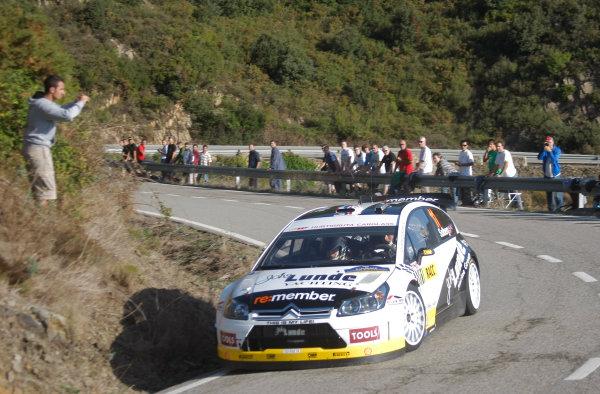 Round 11Rally Catalunya 01-04 October 2009Petter Solberg, WRC, Citroen, ActionWorldwide Copyright: McKlein/LAT