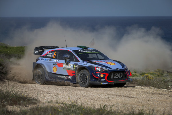 Hayden Paddon finished a respectable fourth on Rally d'Italia Sardinia