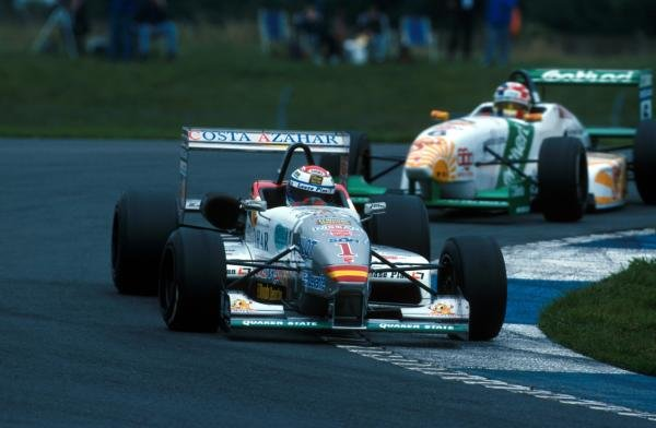 Marc Gene (ESP) was the 1998 champion with six wins and three pole positions. Open Fortuna Nissan Championship, Donington Park, England,  September 1998.