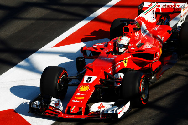 Baku City Circuit, Baku, Azerbaijan. Saturday 24 June 2017. Sebastian Vettel, Ferrari SF70H. World Copyright: Steven Tee/LAT Images ref: Digital Image _R3I3318