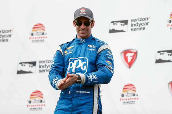 2017 Verizon IndyCar Series - Firestone Grand Prix of St. Petersburg St. Petersburg, FL USA Sunday 12 March 2017 Simon Pagenaud celebrating in victory lane World Copyright:Sam Cobb/LAT Images ref: Digital Image cobb-stpete-170312-4616
