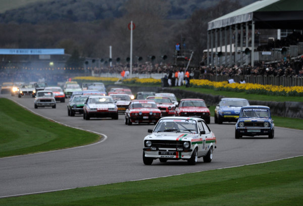 2017 75th Members Meeting Goodwood Estate, West Sussex,England 18th - 19th March 2017 Gerry Marshall Trophy Start Blundell Escort World Copyright : Jeff Bloxham/LAT Images Ref : Digital Image