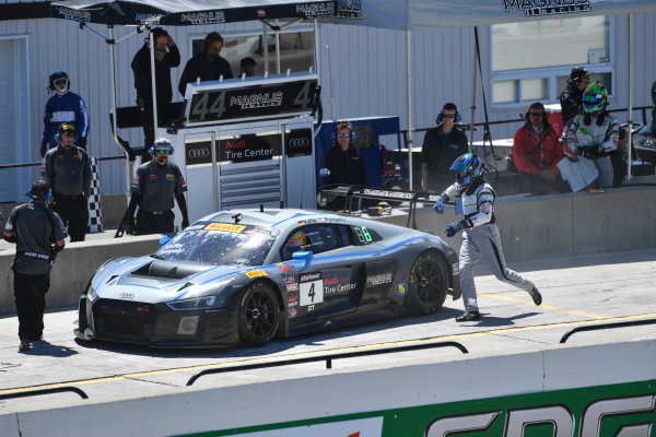 Pirelli World Challenge Victoria Day SpeedFest Weekend Canadian Tire Motorsport Park, Mosport, ON CAN Saturday 20 May 2017 Pierre Kaffer/ Spencer Pumpelly pit stop World Copyright: Richard Dole/LAT Images ref: Digital Image RD_CTMP_PWC17087