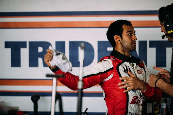 Bahrain International Circuit, Sakhir, Bahrain. Wednesday 29 March 2017 Nabil Jeffri (MAS) Trident  Photo: Malcolm Griffiths/FIA Formpula 2 ref: Digital Image MALC4605 2