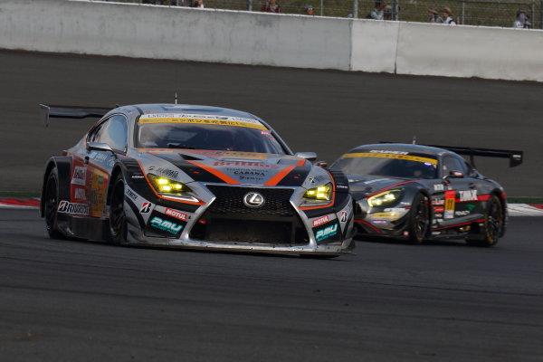 2017 Japanese Super GT Series. Fuji, Japan. 6th - 7th April 2017. Rd 2. GT300 Winner Yuichi Nakayama & Sho Tsuboi ( #51 JMS P.MU LMcorsa RC F GT3 ) action World Copyright: Yasushi Ishihara / LAT Images. Ref: 2017SGT_Rd2_10