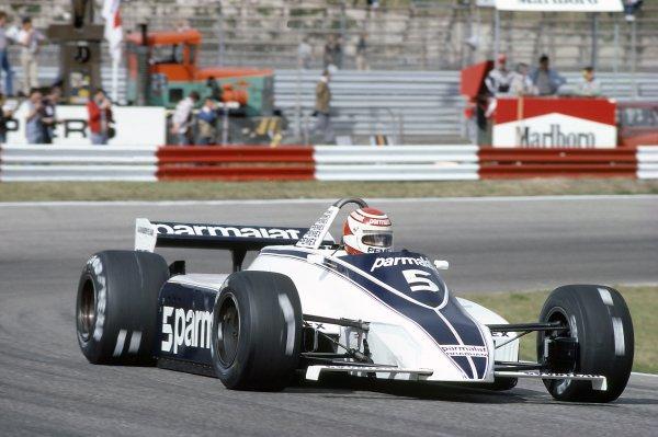 1981 Dutch Grand PrixZandvoort, Holland. 28-30 August 1981.Nelson Piquet (Brabham BT49C-Ford Cosworth), 2nd position. Ref - 81HOL02.World Copyright - LAT Photographic