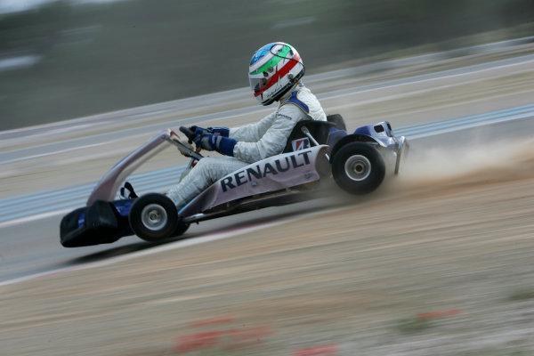 2005 GP2 Karting Challenge13th June 2005Ferdinando Monfardini (I, Durango). Action. Circuit Paul Ricard, FranceWorld Copyright: GP2 SeriesDigital Image Only