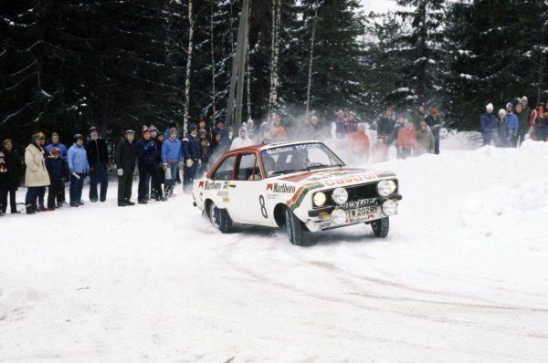 1978 World Rally Championship. Swedish Rally, Sweden. 10-12 February 1978. Ari Vatanen/Atso Aho (Ford Escort RS), 5th position World Copyright: LAT PhotographicRef: 35mm transparency 78RALLY18