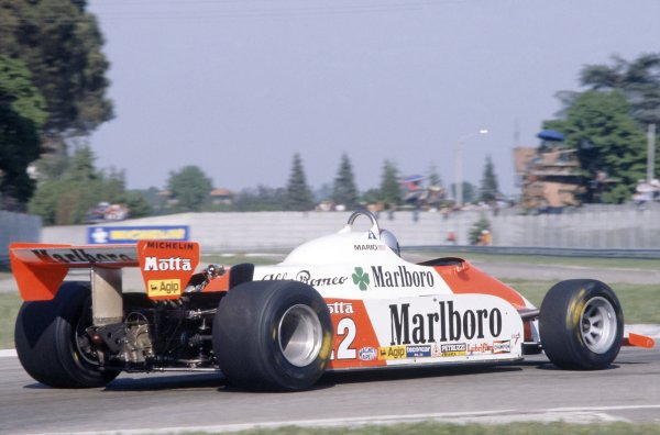 1981 San Marino Grand Prix.Imola, Italy. 1-3 May 1981.Mario Andretti (Alfa Romeo 179C), retired.World Copyright: LAT PhotographicRef: 35mm transparency 81SM13