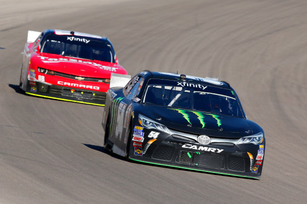 6-7 March, 2015, Las Vegas, Nevada USA Denny Hamlin, Monster Energy Toyota Camry and Dale Earnhardt Jr ?2015, Russell LaBounty LAT Photo USA