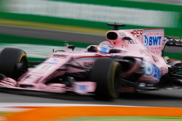 Autodromo Nazionale di Monza, Italy. Friday 01 September 2017. Sergio Perez, Force India VJM10 Mercedes. World Copyright: Steven Tee/LAT Images  ref: Digital Image _O3I4762