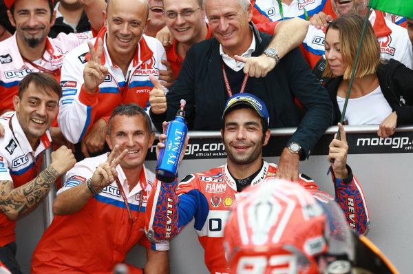 2017 MotoGP Championship - Round 13 Misano, Italy. Sunday 10 September 2017 Second place Danilo Petrucci, Pramac Racing World Copyright: Gold and Goose / LAT Images ref: Digital Image 7938