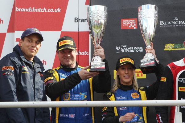 2016 British GT Championship, Brands Hatch, Kent. 16th - 17th April 2016. Anna Walewska / Nathan Freke Century Motorsport Ginetta G55 GT4. World Copyright: Ebrey / LAT Photographic.