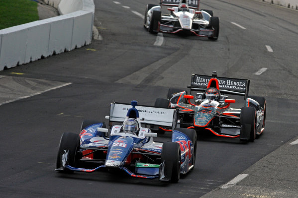 1-2 June, 2012, Detroit, Michigan, USAMarco Andretti (#26), J. R. Hildebrand (#4) and Ryan Briscoe (#2).(c)2012, F. Peirce WilliamsLAT Photo USA