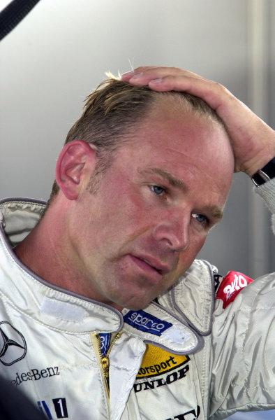 2002 DTM Championship Norisring, Germany. 29th - 30th June 2002. Uwe Alzen (HWA Mercedes), portrait.World Copyright: Andre Irlmeier/LAT Photographic