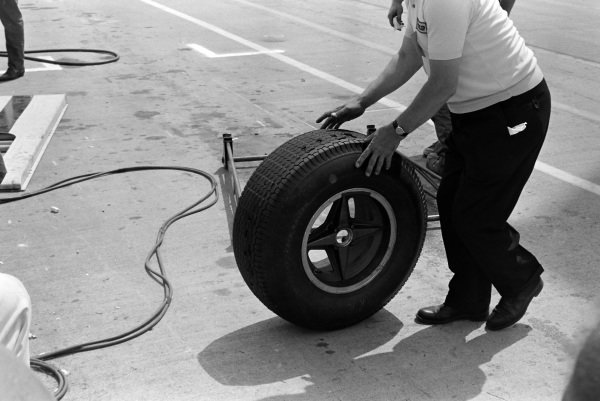 A worn tyre.