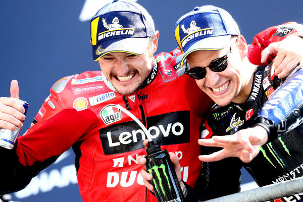 Jack Miller, Ducati Team Fabio Quartararo, Yamaha Factory Racing   .