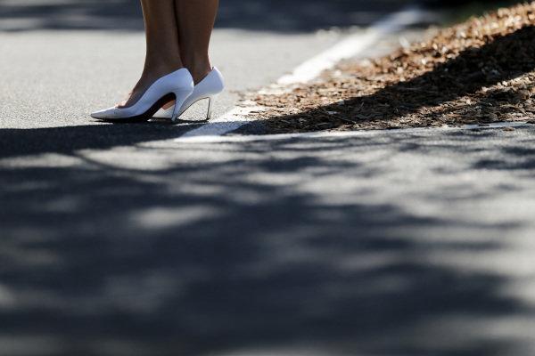 Rolex girls shoes at Formula One World Championship, Rd1, Australian Grand Prix, Race, Albert Park, Melbourne, Australia, Sunday 20 March 2016.