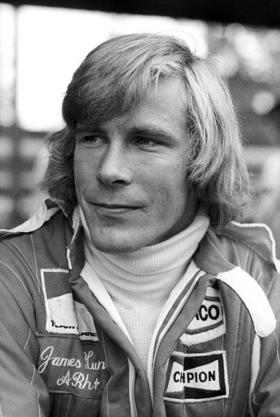 Race winner James Hunt (GBR) McLaren. German Grand Prix, Rd 10, Nurburgring, Germany, 1 August 1976.